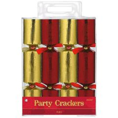 Red/Gold Foil Embossed Paper Crackers