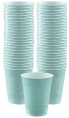 Big Party Pack Robin's Egg Blue Plastic Cups, 16 oz - 50ct