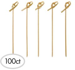 Bamboo Knot Party Picks, 100ct