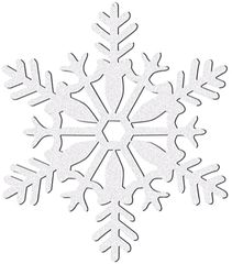 Large White Glitter Plastic Snowflake Decoration