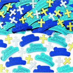Communion Boy Embossed Confetti