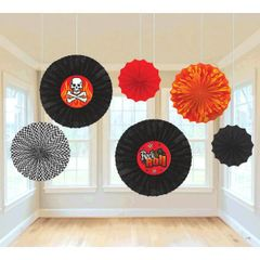 Rock On Printed Paper Fan Decorations