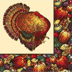 Autumn Turkey Luncheon Napkins
