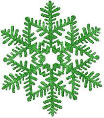 Large Green Glitter Plastic Snowflake Decoration