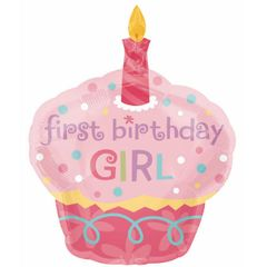 Sweet Cupcake Girl Super Shape Balloon 36""