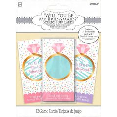 """Will You Be My Bridesmaid?"" Scratch Off Cards"