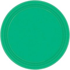 "Festive Green Dessert Plates, 7"" - 20ct"