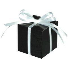 Black Square Favor Boxes, 100ct