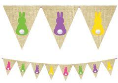 Bunny Cottontail Burlap Banner, 9ft
