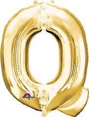 """Gold Letter Q - 34"""" Mylar"""