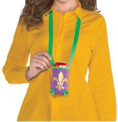 Mardi Gras Beverage Holder Necklace