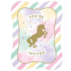Unicorn Sparkle Invitations, 8ct