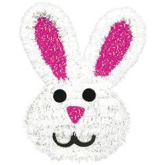 3D Tinsel Bunny Decoration