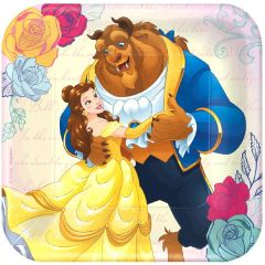 """©Disney Beauty And The Beast Square Plate, 7"""""""