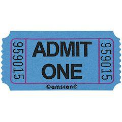 Blue Admit One Ticket Roll