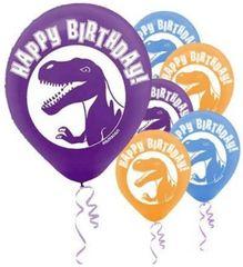 Prehistoric Party Printed Latex Balloons, 6ct