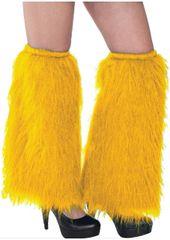 Yellow Plush Leg Warmers