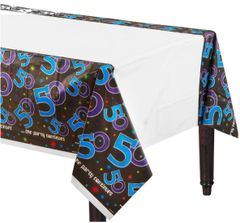 The Party Continues 50th Birthday Plastic Table Cover