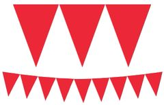 Red Paper Pennant Banner, 15ft