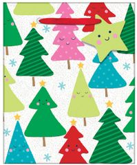 Tree Small Vertical Bag w/ gift tag