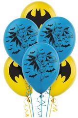 Batman™ Printed Latex Balloons, 6ct