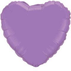 Heart 28 Spring Lilac Mylar Balloon 18in