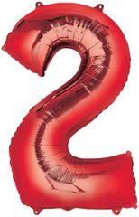 "34"" Red #2 Mylar Balloon"