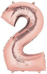 """34"""" Rose Gold #2 Mylar Balloon"""