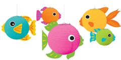 3-D Tropical Fish Paper Lanterns, 5ct