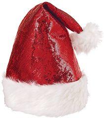 Red Glitzy Santa Hat