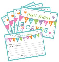 Baby Shower New Mommy Advice Cards, 24ct