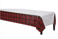 Holiday Charm Plastic Table Cover