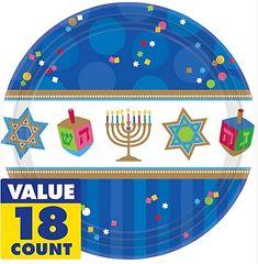 "Hanukkah Celebrations Plates, 10 1/2"""