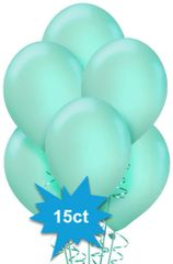 Robin's-Egg Blue Latex Balloons, 15ct