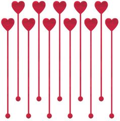 Heart Drink Stirrers, 12ct