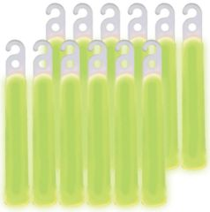 "4"" Green Glow Stick Necklaces, 12ct"