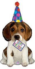 "Birthday Puppy Super Shape Balloon 41"""