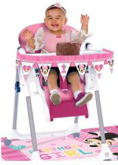 ©Disney Minnie's Fun To Be One High Chair Decorating Kit