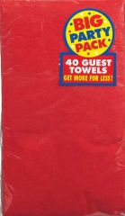 Apple Red Big Party Pack Guest Towels, 40ct