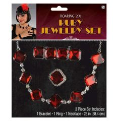 20's Ruby Jewelry Set