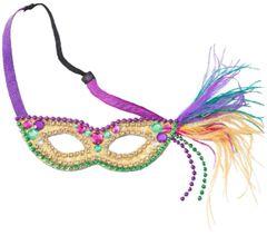 Feather Mardi Gras Mask Headband