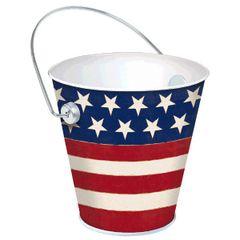 Americana Metal Bucket