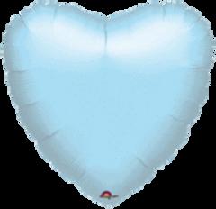 Heart 21 Pastel Blue Mylar Balloon 18in