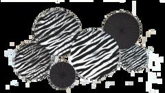 Zebra Printed Paper Fan Decorations, 6ct