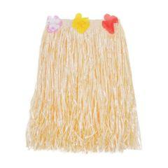 Adult Plastic Mini Hula Skirt