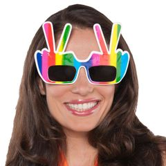 60's Hippie Peace Sign Glasses