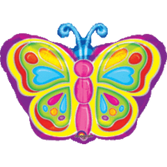 Bright Butterfly Balloon 18""