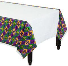 Fleur De Lis Plastic Table Cover
