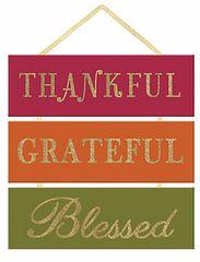 Glitter Thankful Grateful Blessed Sign
