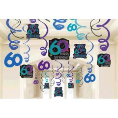 The Party Continues - 60 Mega Value Pack Foil Swirl Decorations